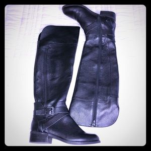 Nine West Payson Over The Knee Tall Black Boots